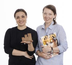 Издатель журнала Allure Виктория Бухаркина и бренд-менеджер Allure Мария Гайтер