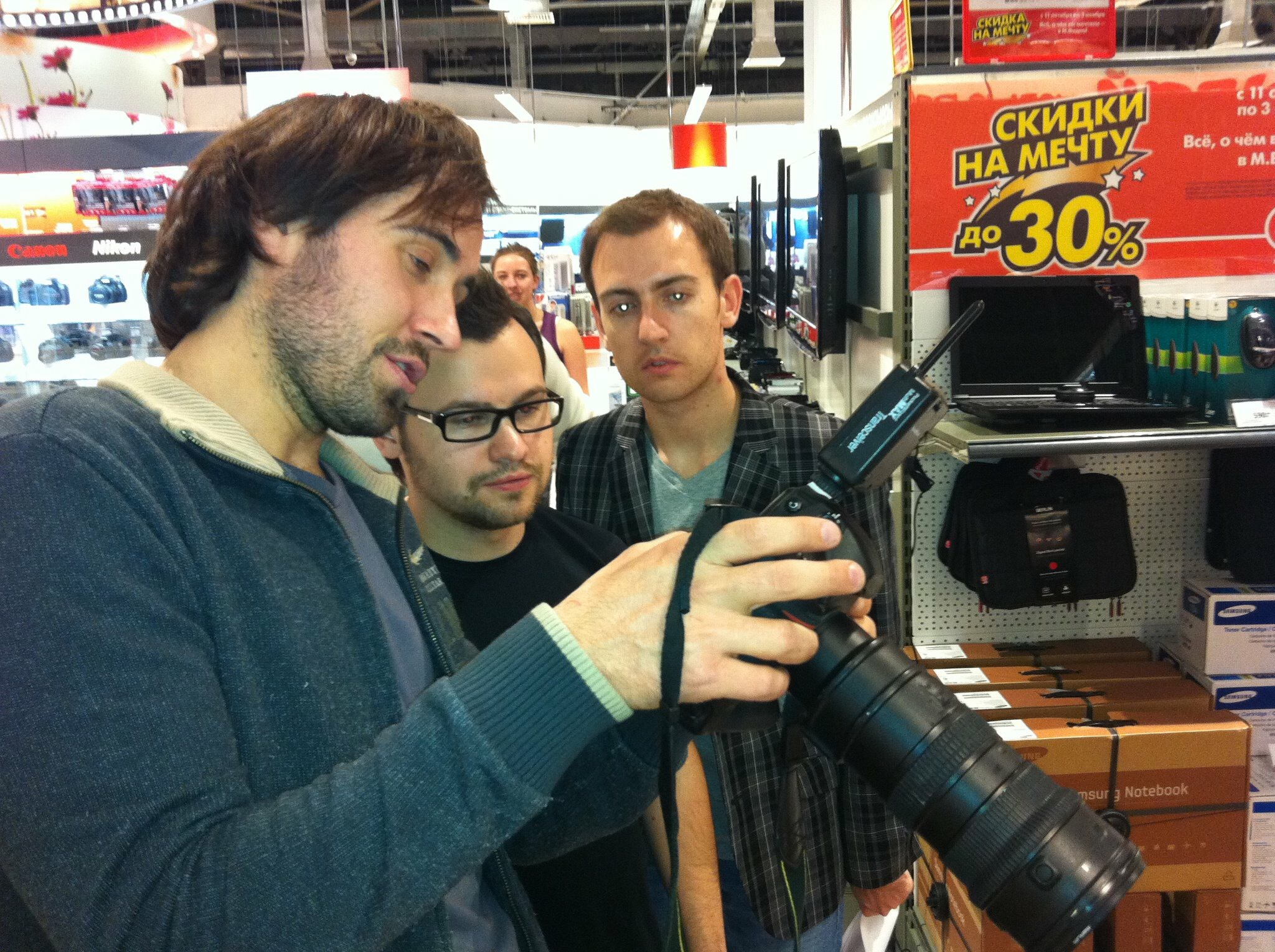 Съёмки проекта «Лица компании» для «М.Видео» в 2011 году